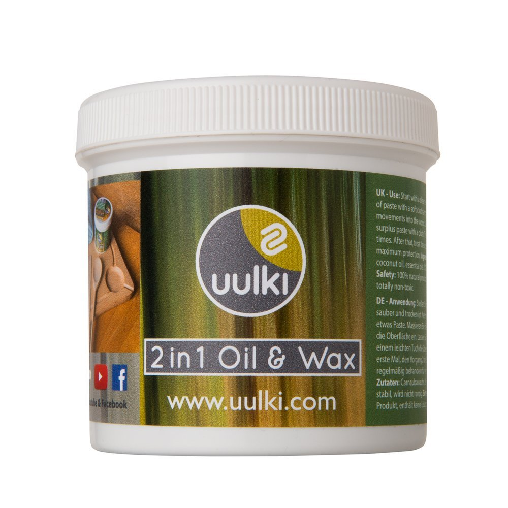 Uulki® Natural Care 2 in 1 Wood Wax & Wood Oil for Kitchen Table ...