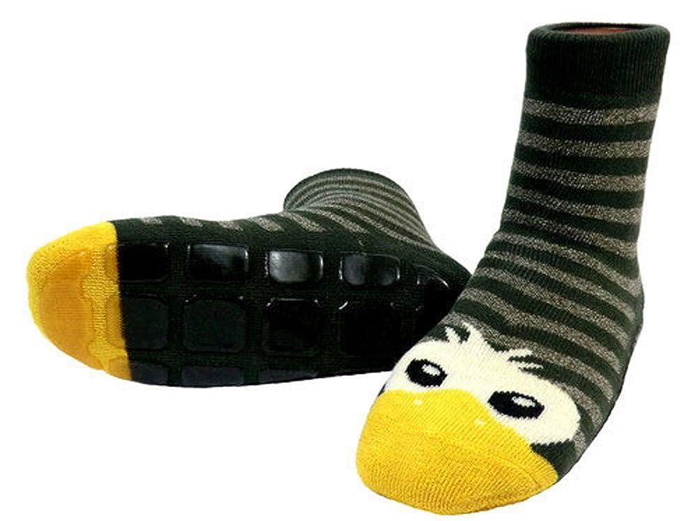 35//38 ou 140//146 enfants ABS Chaussettes Chaussons T/ête de canard taille Olive couleur