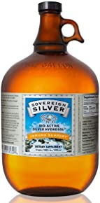 Sovereign Silver Bio-Active Silver Hydrosol for Immune Support* - 1 Gallon – The Ultimate Refinement of Colloidal Silver - Safe*, Pure and Effective* - Premium Silver Supplement - Family Size