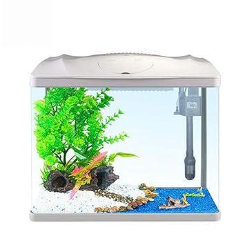 Suna Tanque De Tortugas Acuario Tanque De Peces De Colores Tanque De Peces De Escritorio Pequeño Y Creativo Tanque De Peces Ecológico (Blanco): Amazon.es: ...