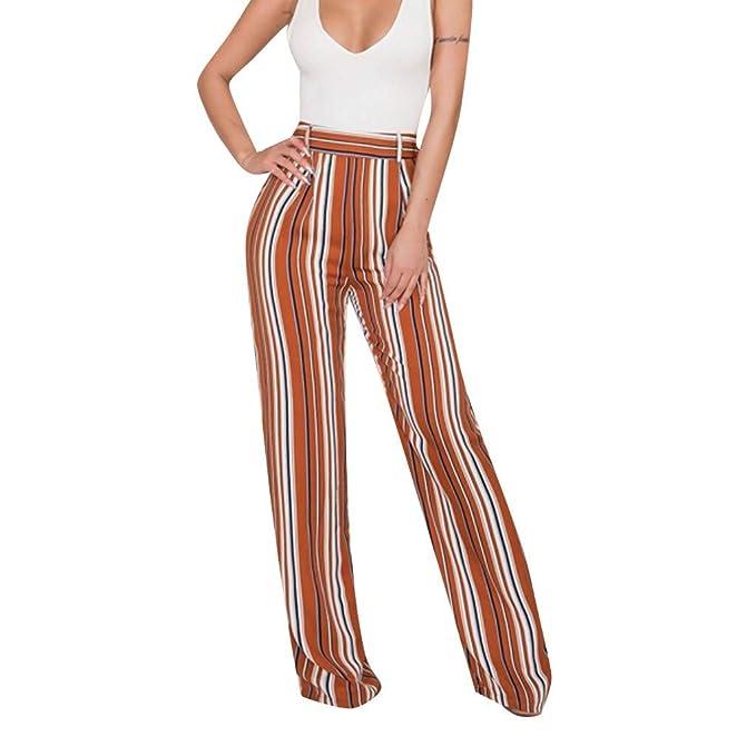 RYTEJFES Pantalones Mujer Pantalones De Yoga Retro Rayas ...