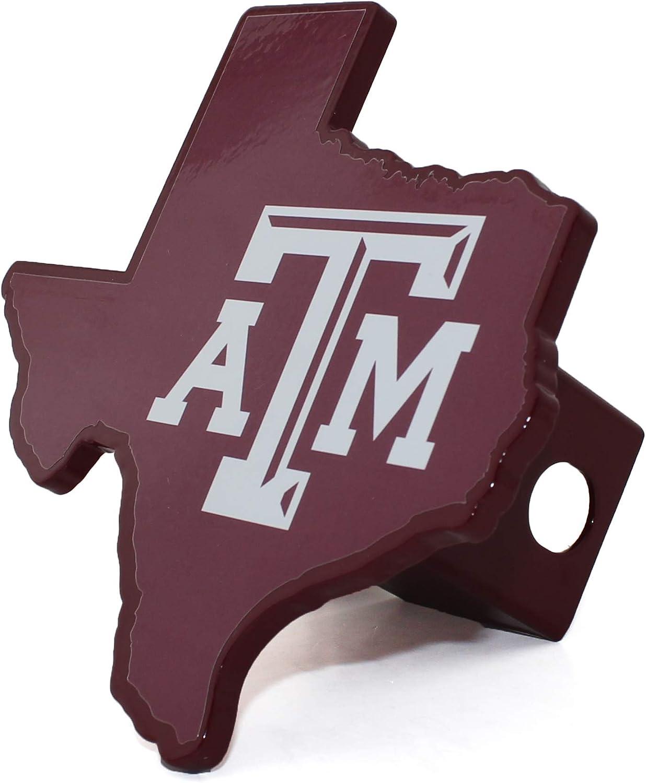 Texas A/&m Univ Maroon Hitch Cover Elektroplate