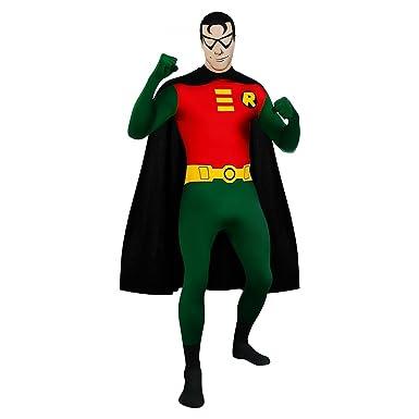 Superhero 2nd Skin Full Body Suit Adult Costume Robin - Green and Red - Medium  sc 1 st  Amazon.com & Amazon.com: Superhero 2nd Skin Full Body Suit Adult Costume Robin ...