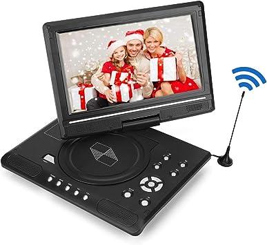 Vbestlife Reproductor Multimedia de DVD Portable HD con 9.8 Pantalla LCD para Juego Reproductor de TV de Coche Receptor de Radio FM con Enchufe EU Soporta Tarjeta SD/USB/CD/DVD(Negro): Amazon.es: Electrónica