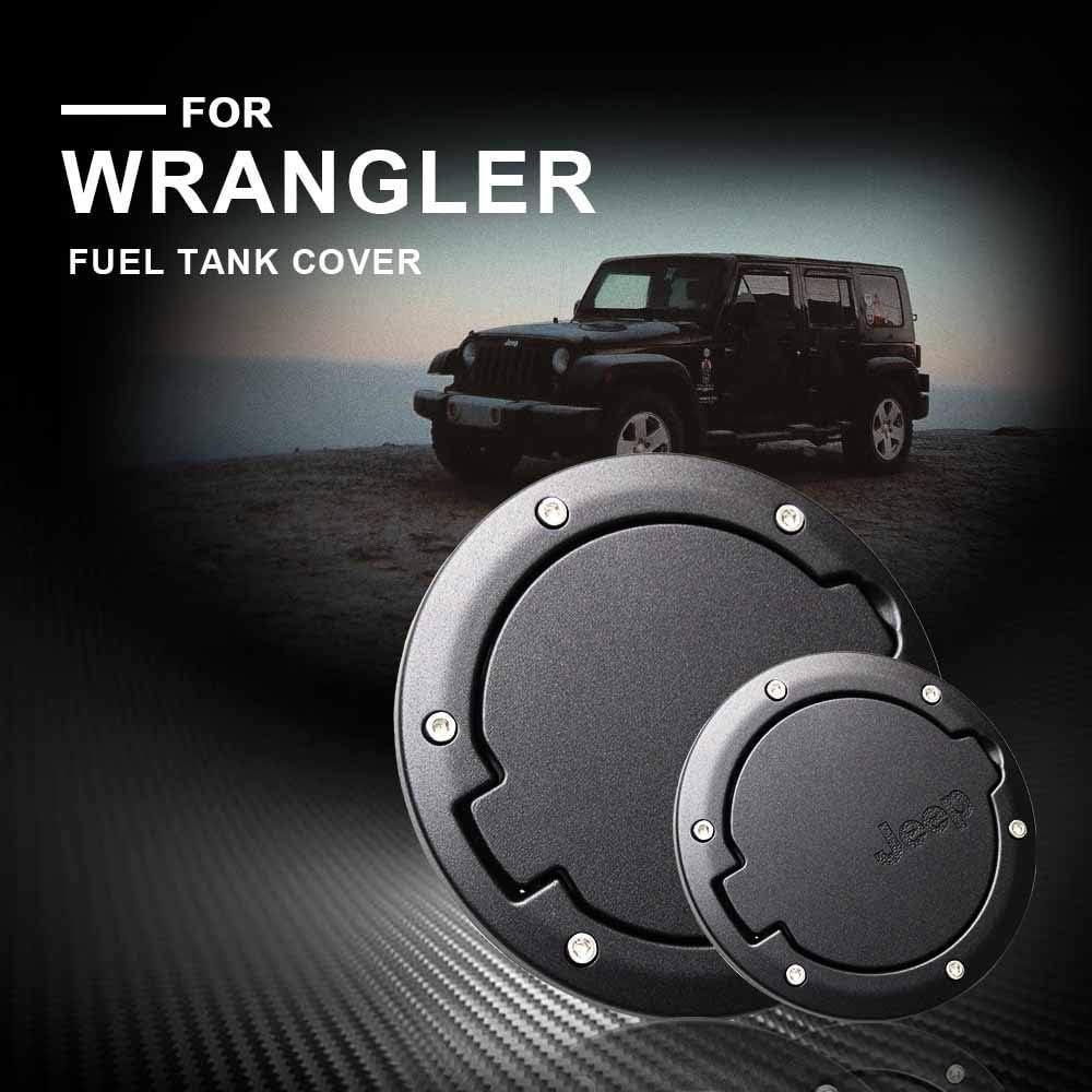 copertura per serbatoio del carburante per Wrangler JK 2007-2018 Jinglingkj 1 pezzo in lega di alluminio