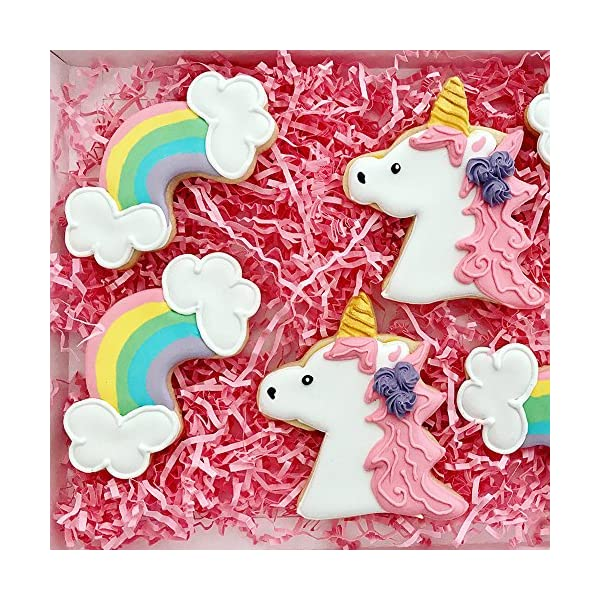 Ann Clark Cookie Cutters 3-Piece Fantasy Unicorn Cookie Cutter Set with Recipe Booklet, Unicorn Head, Unicorn, and… 4