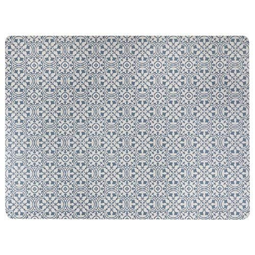 Vinyl Floor Mat, Durable, Soft and Easy to Clean, Ideal for Kitchen Floor, Dining Room or Play Mat. Freestyle, Steel Deco Pattern (6 ft x 8 ft) (Best Flooring For Dining Room)