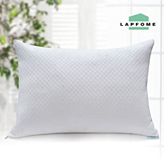 Adjustable Shredded Memory Foam Pillow for Sleeping - with Washable & Removable Bamboo Cover, Best Pillows for Side/Stomach/Back Sleepers- Hypoallergenic & Dust Mite Resistant (Queen Size)