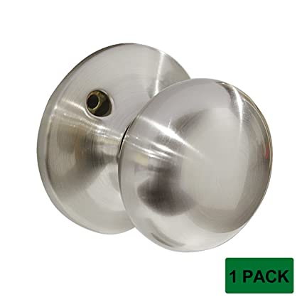 Probrico Stainless Steel Dummy Door Knobs Non  Functioning Round Door  Lockset Handles Brushed Nickel Hardware
