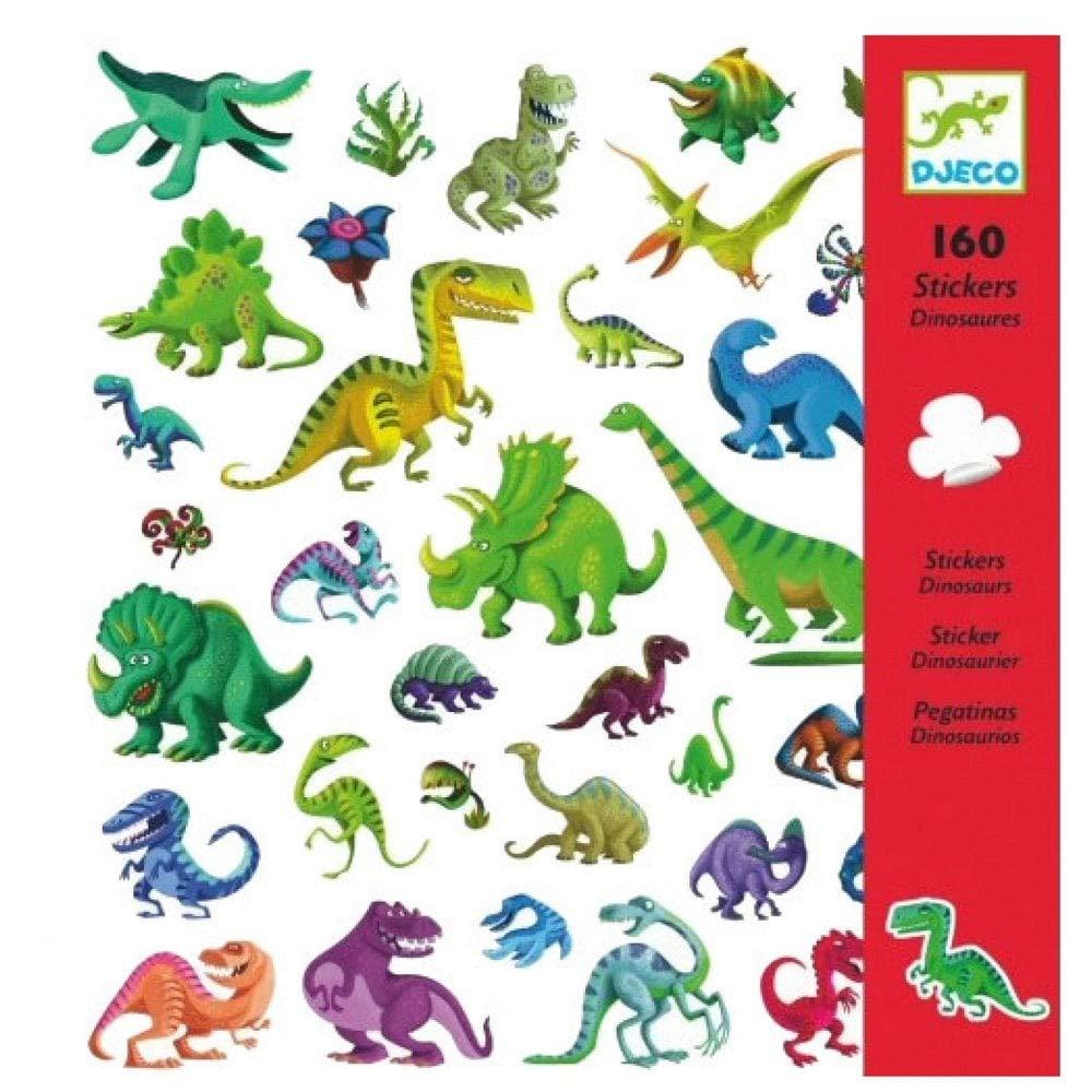 DJECO Globos Pegatinas Dinosaurios, Multicolor (FBA_DJ08843)