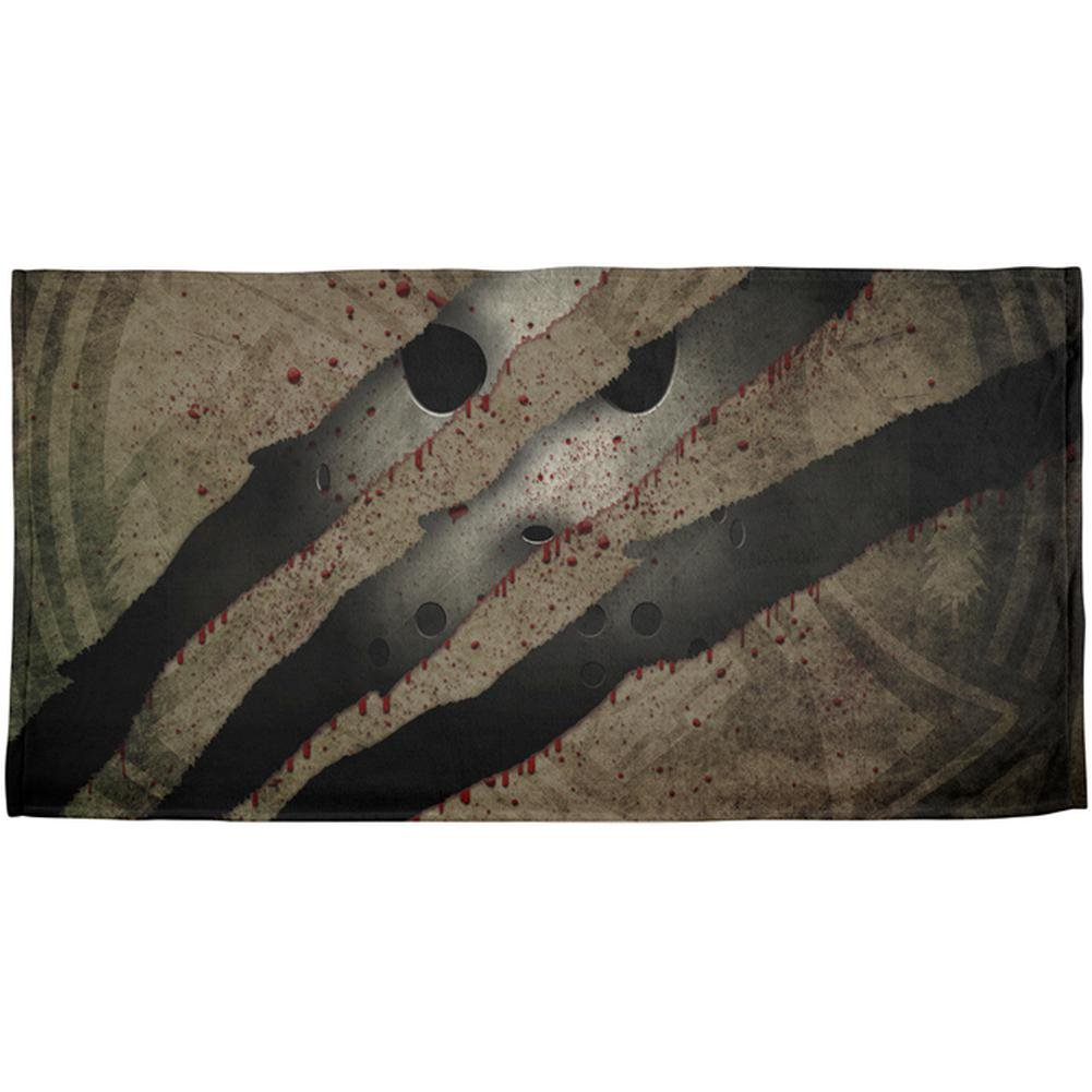 Halloween Horror Movie Mask Slasher Attack All Over Beach Towel Multi Standard One Size