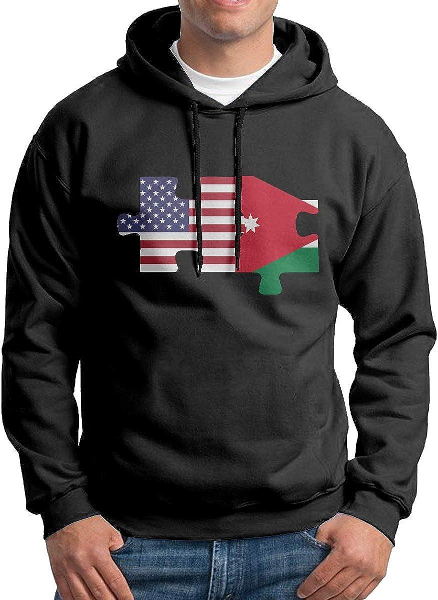 cerca en progreso bandera nacional  Amazon.com: of Jordan USA Flag Men's Sweatshirt, Cotton Pullover Hoodie  Without Pocket: Clothing