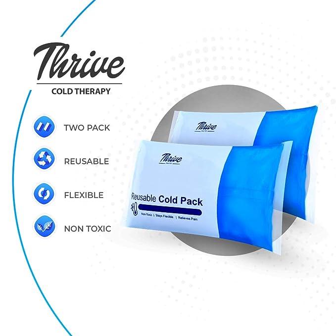 Amazon.com: Compresa fría de hielo de gel reutilizable - (2 ...