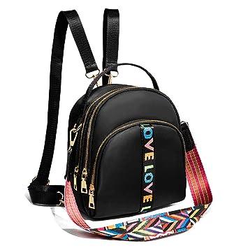 c837ceba3f Amazon.com   Vinteen Super Fire Backpack Female Korean Version Mini Cross  Body Backpack Nylon Leisure Canvas Packet Package The New Tide Fashion  Handbag ...