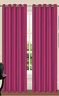 Ravello Fuschia Bright Pink Faux Silk Tie Backs for Curtains