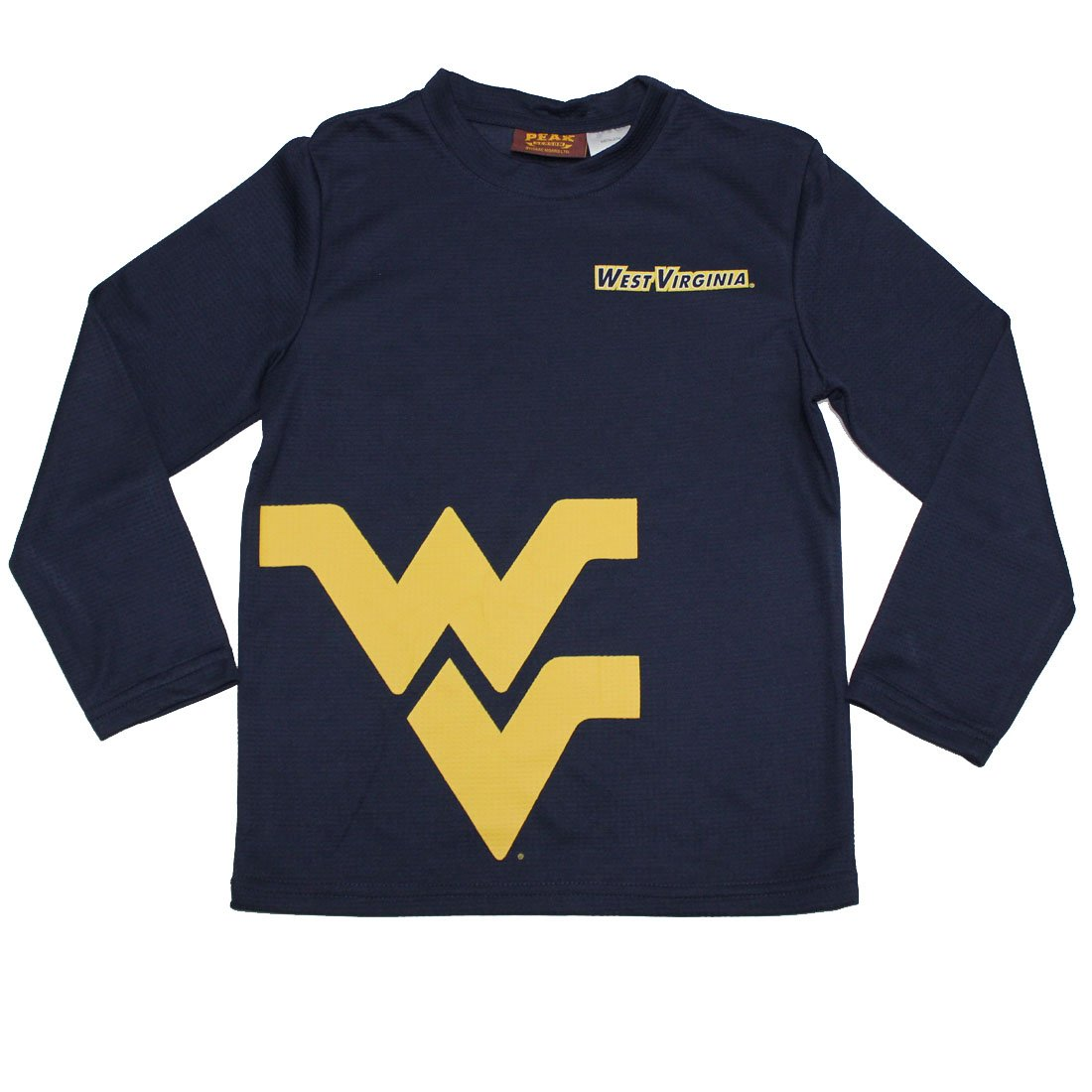 NCAA West Virginia Mountaineers Youth Athletic Dri-Fit Long Sleeve T-Shirt
