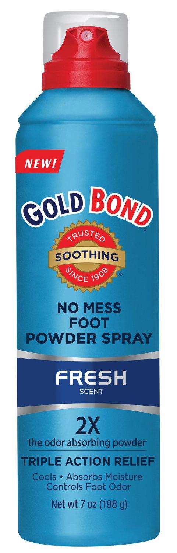 Gold Bond No Mess Foot Powder Spray, Fresh, 7 Ounce