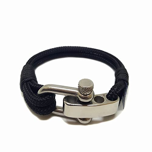 354a2e624f08 Pulsera de cuerda náutica ajustable de Bran Marion.Made de cuerda de  navegación y cerradura