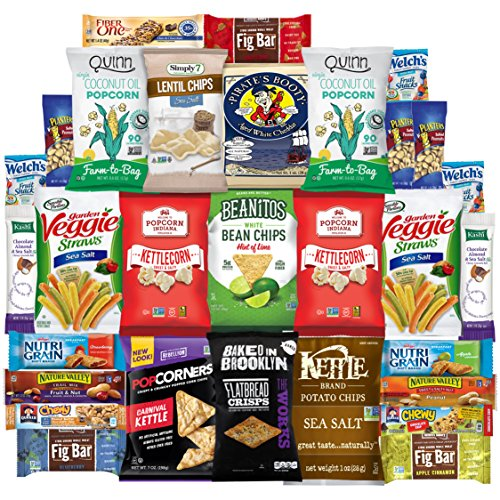 Healthy Snacks Care Package Variety Pack (30 Count) by Variety Fun (Send Care Packages To Troops)