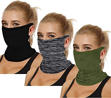 Face Guard Neck Gaiter Sun Shield Balaclava Bandana Scarf Head Band Solid Color