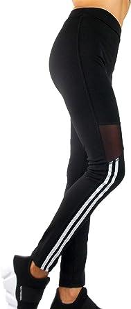 Leggings de Sport pour Femmes, Pantalon de Fitness Noir avec