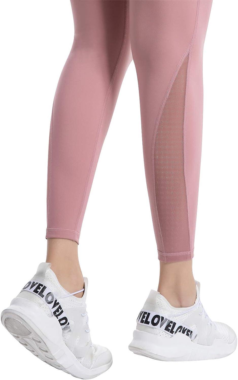 Ramokey Leggings Mujer Pantal/ón Deportivo Cintura Alta con Bolsillos Leggings Mallas para Yoga Pilates Running Fitness y Ejercicio