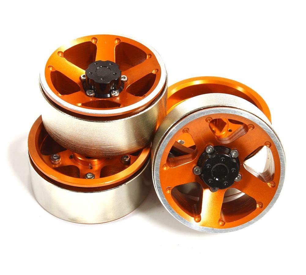 punto de venta INTEGY RC Model Hop-ups C25233naranja High Mass 1.9 Talla Alloy Alloy Alloy 5 Spoke Beadlock Wheel (4) for Scale Off-Road Crawler  mas barato