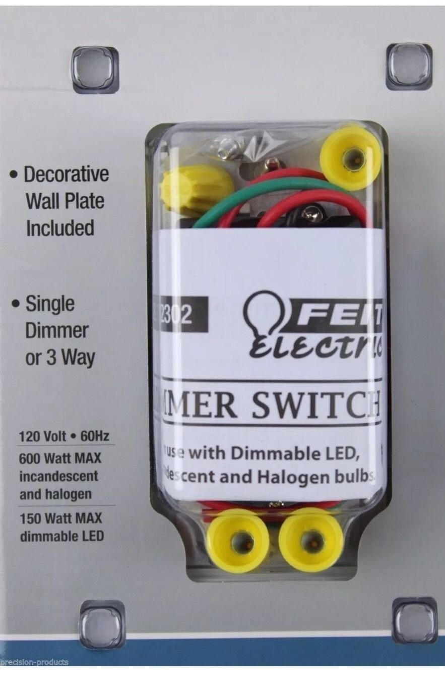 Feit Electric Dimmer Switch 689406 Light And Fan Wiring 2 Switches Also Ceiling 3 Way