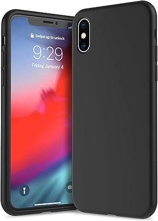 IVSUN Cover iPhone XS Max Silicone, Custodia Protettiva Completa Anti-Impronta Resistente al Graffio in Silicone Liquido da 6,5 Pollici per iPhone XS ...