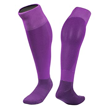 51fbca9f985c VORCOOL Men Sport Football Socks Knee High Soccer Long Socks Team Tube Socks  (Purple)  Amazon.co.uk  Sports   Outdoors
