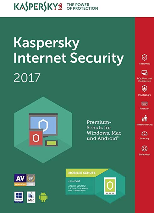 139 opinioni per Kaspersky Lab Internet Security 2017, 1 user, 1 anno, Italiano