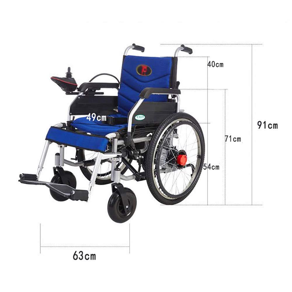 MEI XU Silla de Ruedas, Silla de Ruedas eléctrica Manual, discapacitado Scooter portátil Plegable Mayor, Carga 120kg @: Amazon.es: Hogar