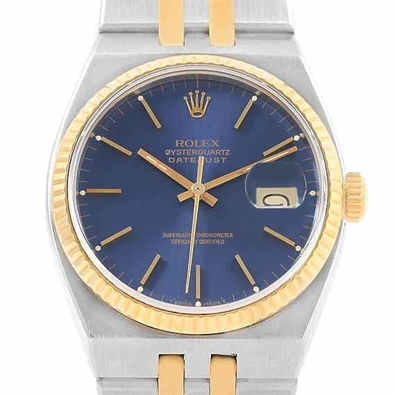 Rolex Oysterquartz 17013 - Reloj de cuarzo para hombre (certificado de autenticidad)