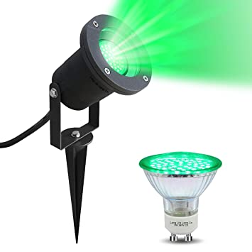 Led garden spike green light gu10 outdoor ip65 black spike with 4w led garden spike green light gu10 outdoor ip65 black spike with 4w green led aloadofball Image collections