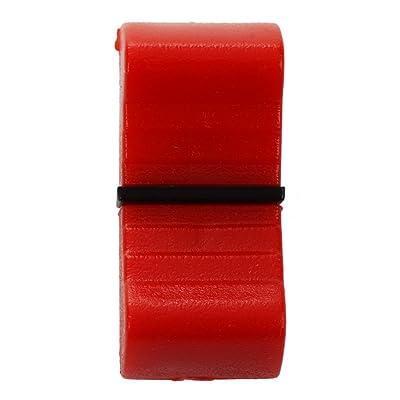 TOOGOO(R) 5pzs Perilla del fader de deslizamiento mixto 8mm Estandar apto Rojo Negro: Juguetes y juegos