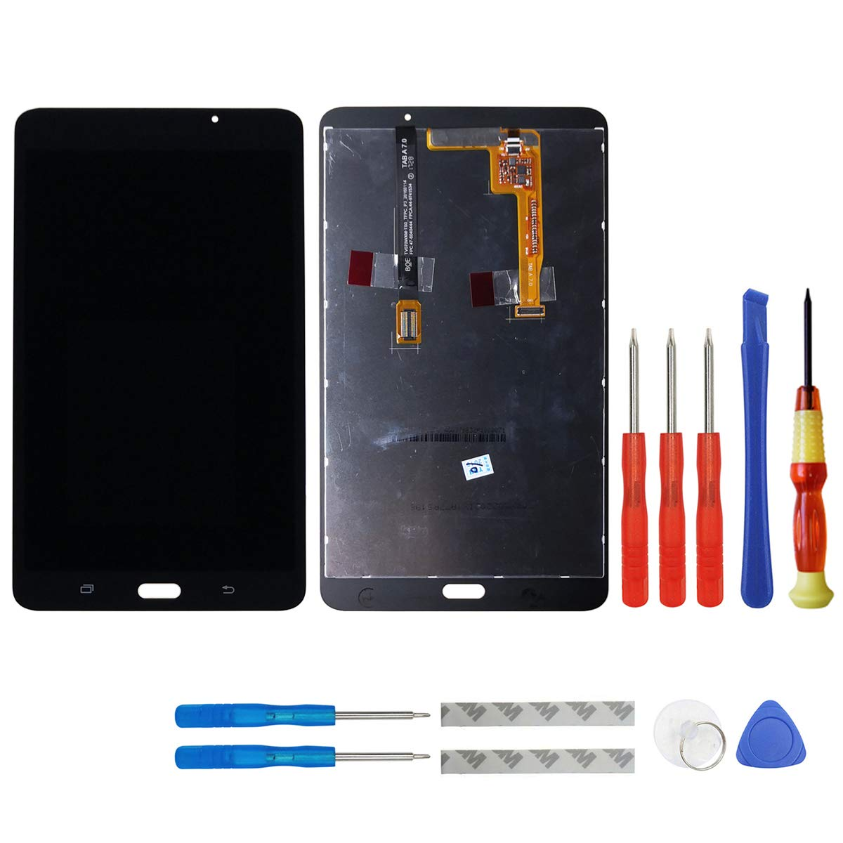 swark LCD Compatible with Samsung Galaxy Tab A 7.0 WiFi Tablet SM-T280 LCD Display Digitizer Touch Screen Assembly (Black) + Tools(Not for 3G Version & T285 & No Earpiece Hole)