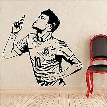 Jugador de fútbol Etiqueta de la pared Neymar Jugador de fútbol ...