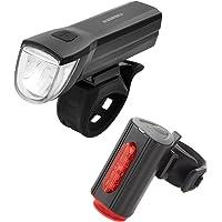 Fischer Led-verlichtingsset, met 360° vloerlamp voor meer zichtbaarheid en bescherming, oplaadbare batterijen met USB…
