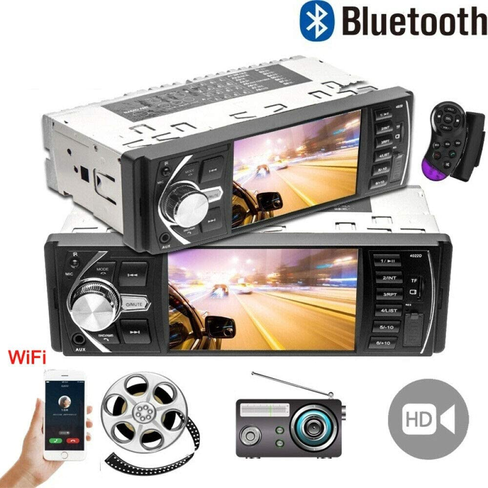 TOTMOX 1 DIN Bluetooth Car Stereo GPS Navigator, 4.1