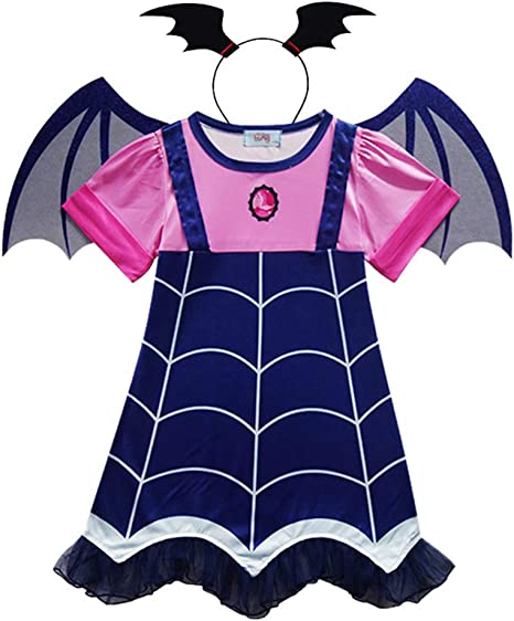 MENGZHEN 1 Conjunto de Disfraz de Vampiro para niñas, Disfraz de ...