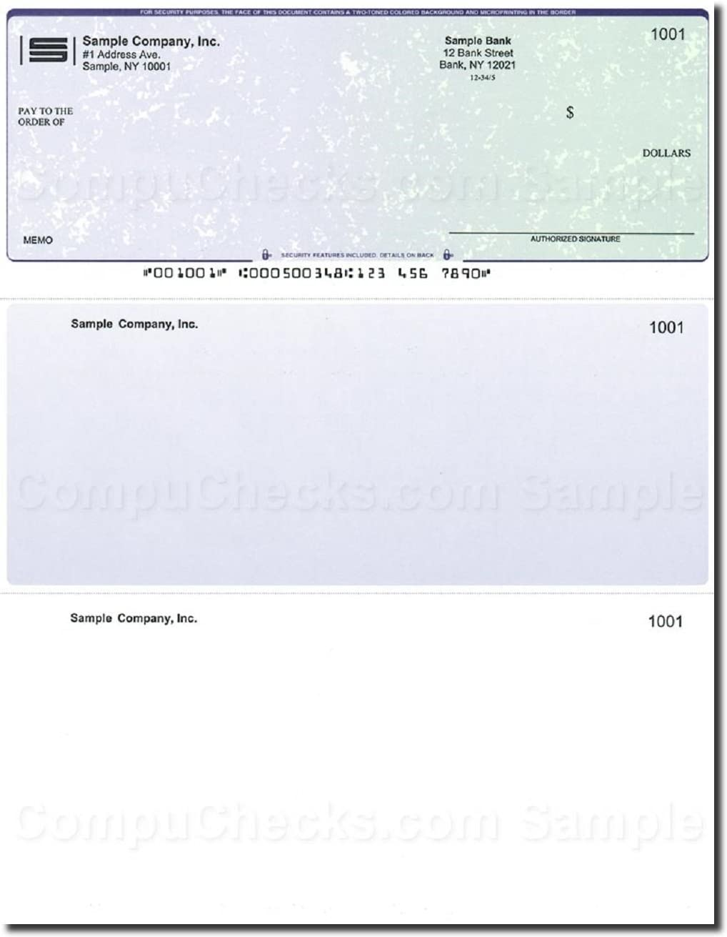Compatible for QuickBooks 250 Printed Laser Computer Voucher Checks Computer Checks Blue Marble