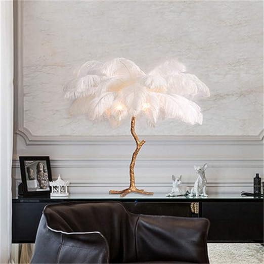Escritorio Lámpara LED abeja de la pluma blanca lámpara de mesa de ...