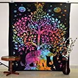 Hippie Dorm Tapestries Tree Of Life Elephant Wall Hanging Tapestry Bohemian Wall Tapestry ...