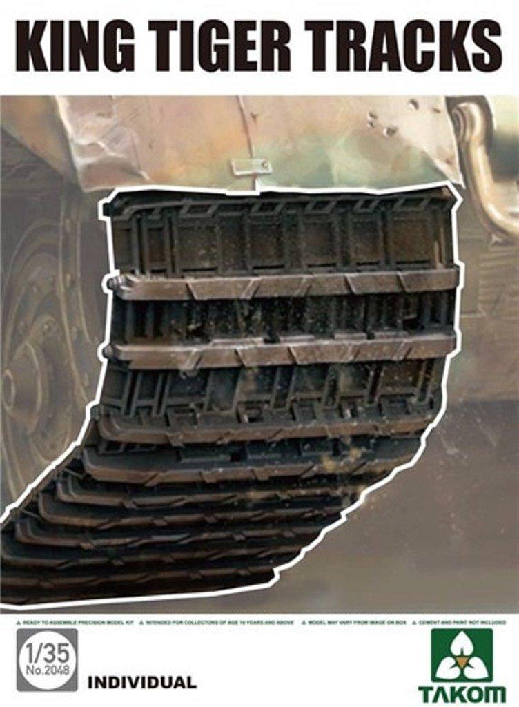 Takom 1 : 35 King Tigerトラック個々リンクプラスチックDetail Set # 2048 B075C8WNND
