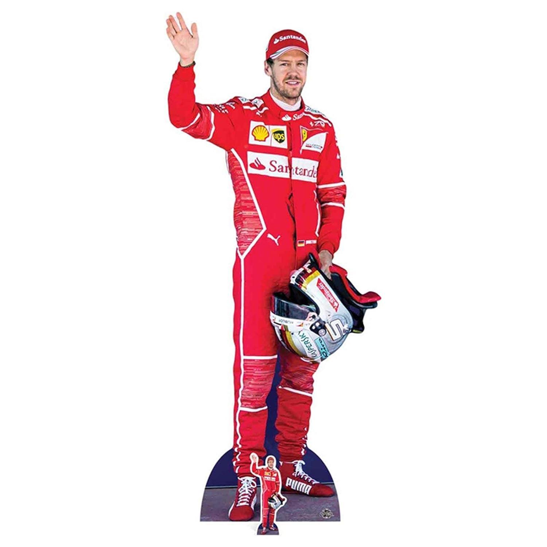 STAR CUTOUTS Sebastian Vettel Red, Cardboard, Multi-Colour, 183 x 77 x 183 cm STAR CUTOUTS LTD CS669