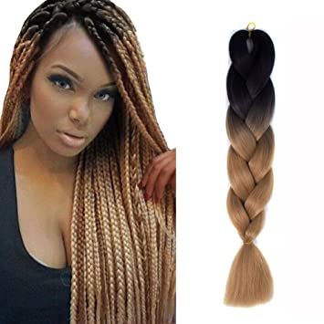 Amazon Com Jiameisi 24 Inch Two Tone Ombre Jumbo Braid Hair