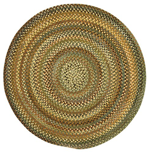 Capel Rugs Eaton Round Braided Area Rug, 3', Green (Capel Rugs Chenille Rug)