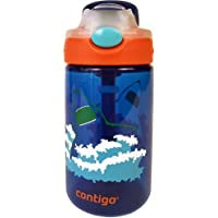 Contigo AUTOSPOUT Straw Gizmo Flip Kids Water Bottle, 14 oz, Ruby with Owls