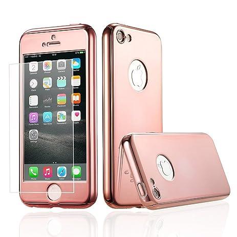 IPhone 7 Plus 55 Inch Full Body Hard Case Auroralove Rose Gold 360 Degree