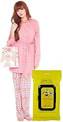 16ca3ad33f2e7 Olian Bundle:2 Items Anne Maternity Nursing PJ Circle Print & Bella B  Breastwipes
